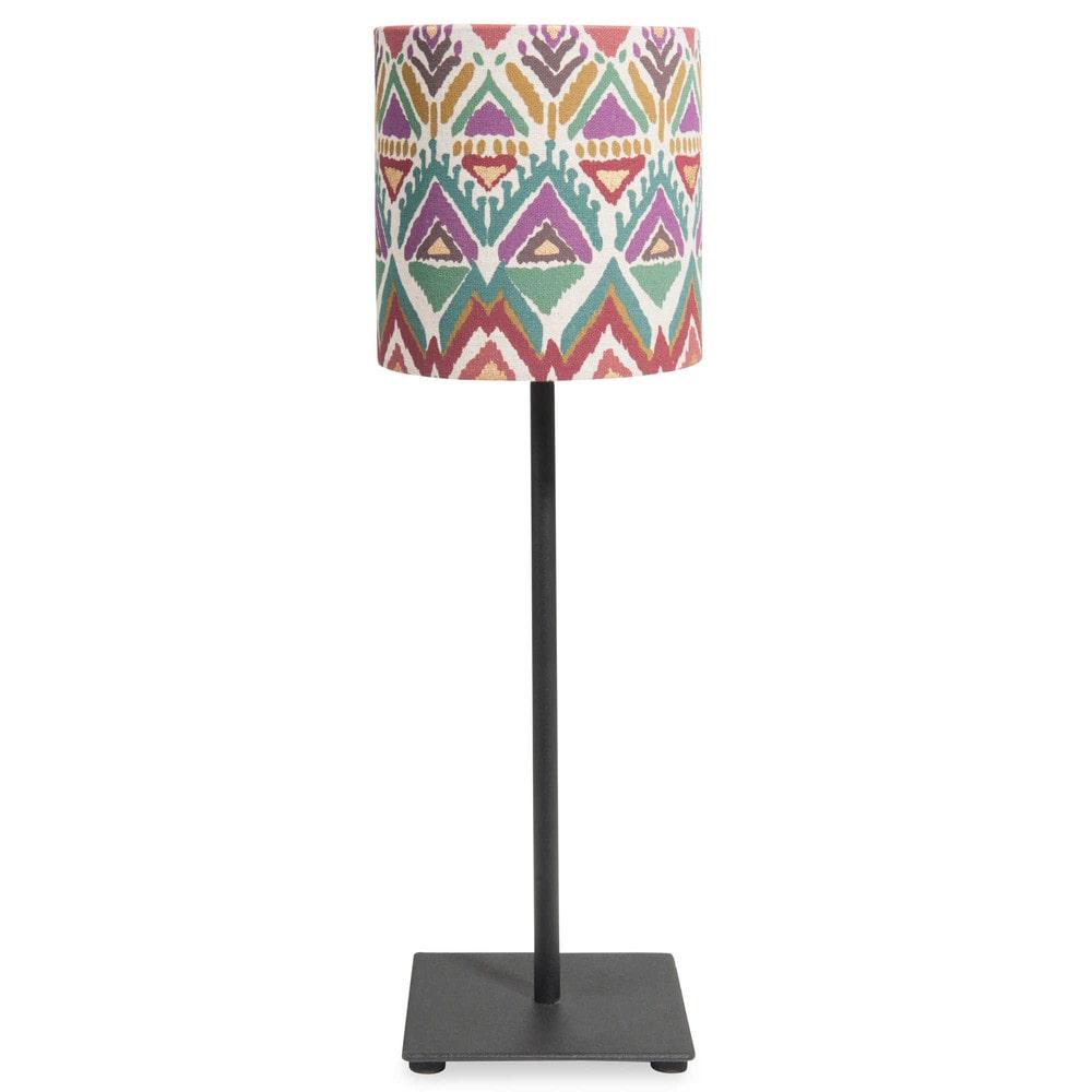 Lampe en m tal h 44 cm inca maisons du monde for Maison du monde 44