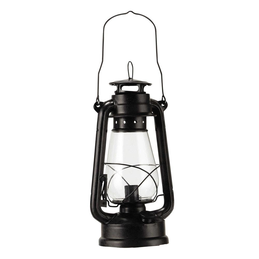 Lampe en m tal noir h 42 cm temp te maisons du monde for Lampada piantana maison du monde