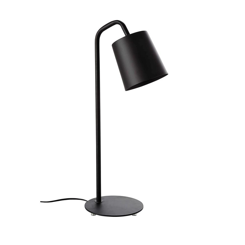 lampe en m tal noir h 55 cm citylive maisons du monde. Black Bedroom Furniture Sets. Home Design Ideas