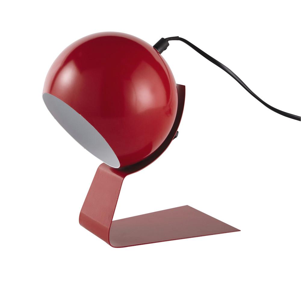 lampe en m tal rouge h 23 cm bubble maisons du monde. Black Bedroom Furniture Sets. Home Design Ideas