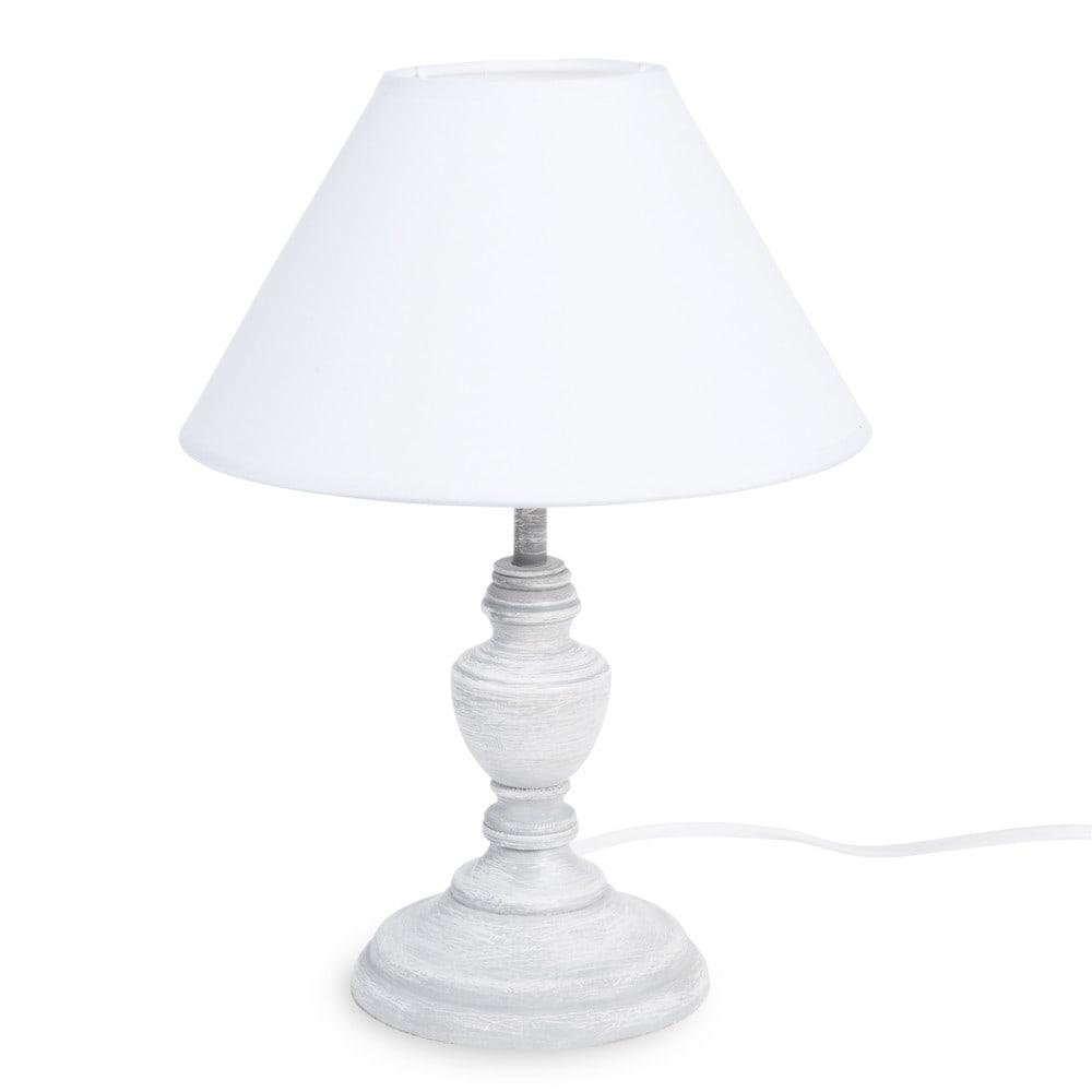 lampe garance aus holz mit lampenschirm aus stoff h 28 cm wei maisons du monde. Black Bedroom Furniture Sets. Home Design Ideas
