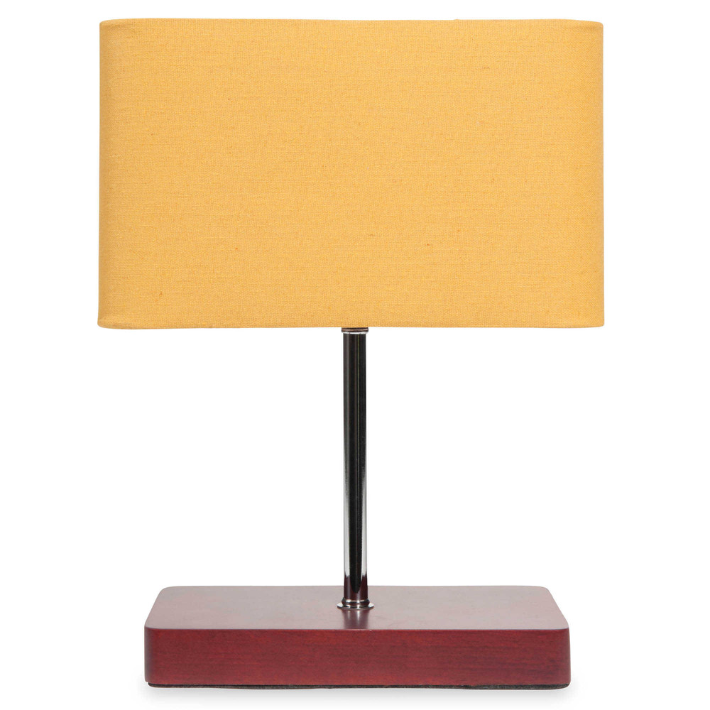 lampe gelb h 31 cm carrea maisons du monde. Black Bedroom Furniture Sets. Home Design Ideas
