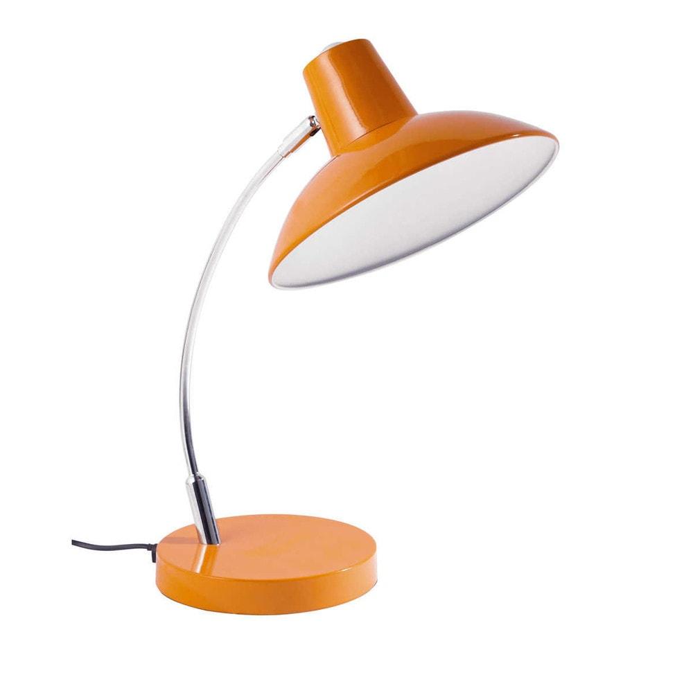 lampe metall orange poppy maisons du monde. Black Bedroom Furniture Sets. Home Design Ideas
