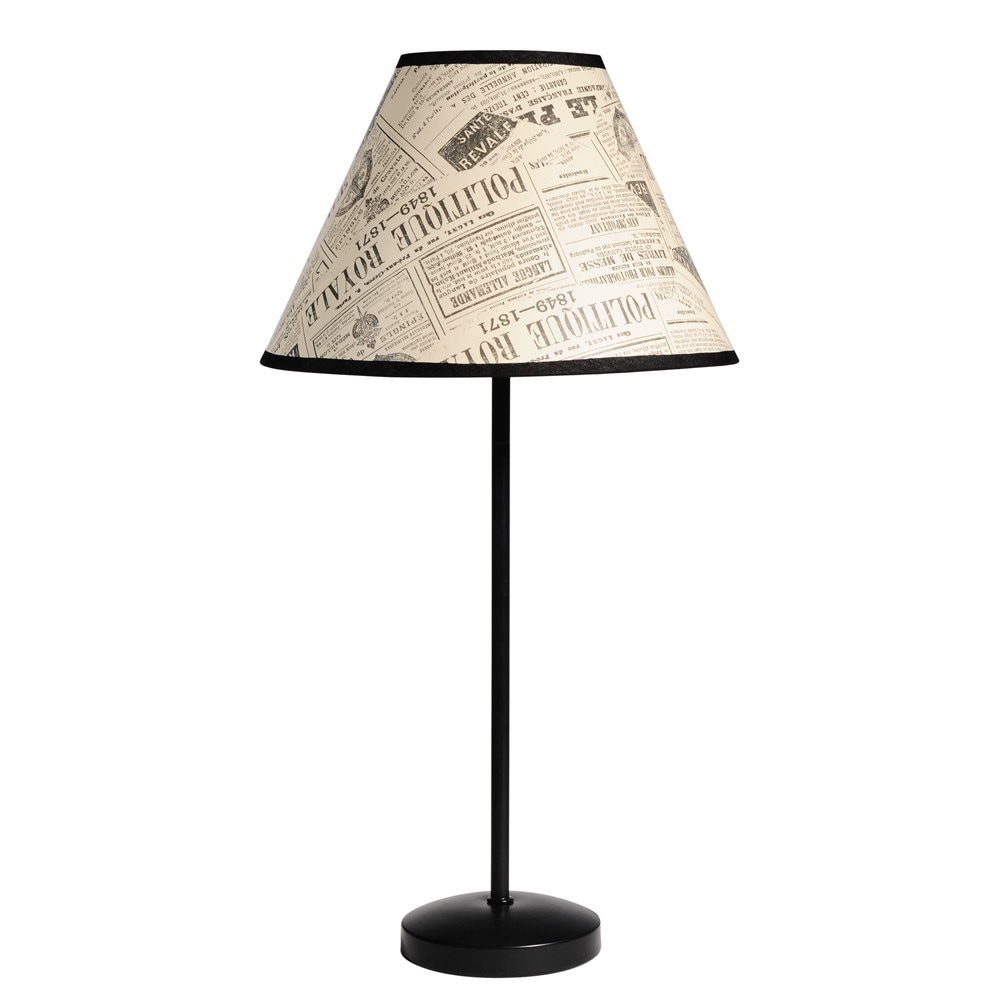 Lampe newspaper maisons du monde for Maison du monde lampe