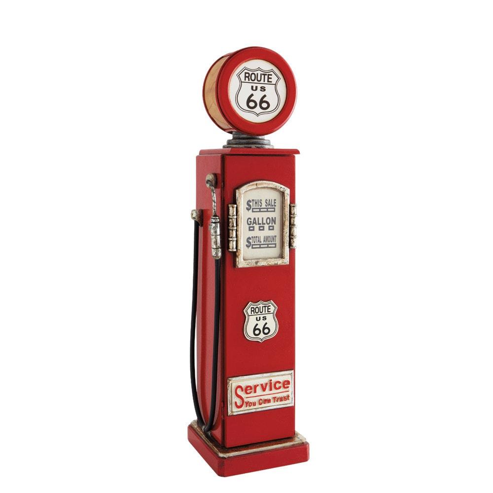 Lampe range CD en métal rouge H 95 cm ROUTE 66 | Maisons du Monde