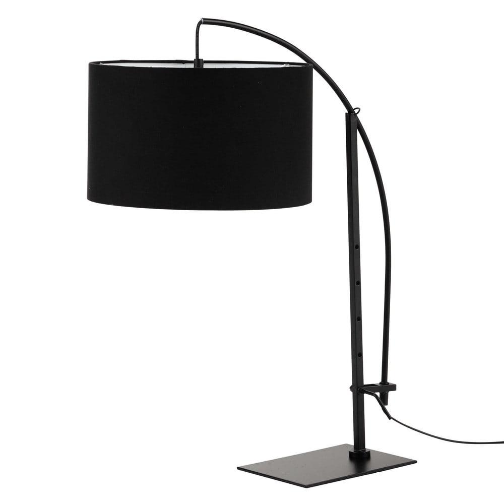 lampe torino aus metall mit lampenschirm aus baumwolle h 64 cm schwarz maisons du monde. Black Bedroom Furniture Sets. Home Design Ideas