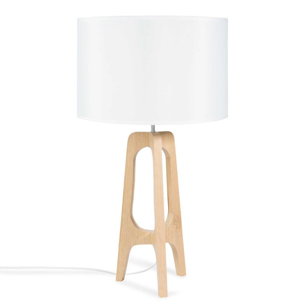 lampe tr pied en bois h 62 cm dalya maisons du monde. Black Bedroom Furniture Sets. Home Design Ideas