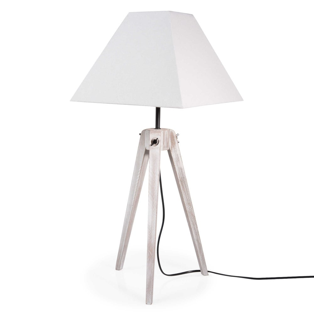 lampe tr pied en bois h 70 cm houat maisons du monde. Black Bedroom Furniture Sets. Home Design Ideas