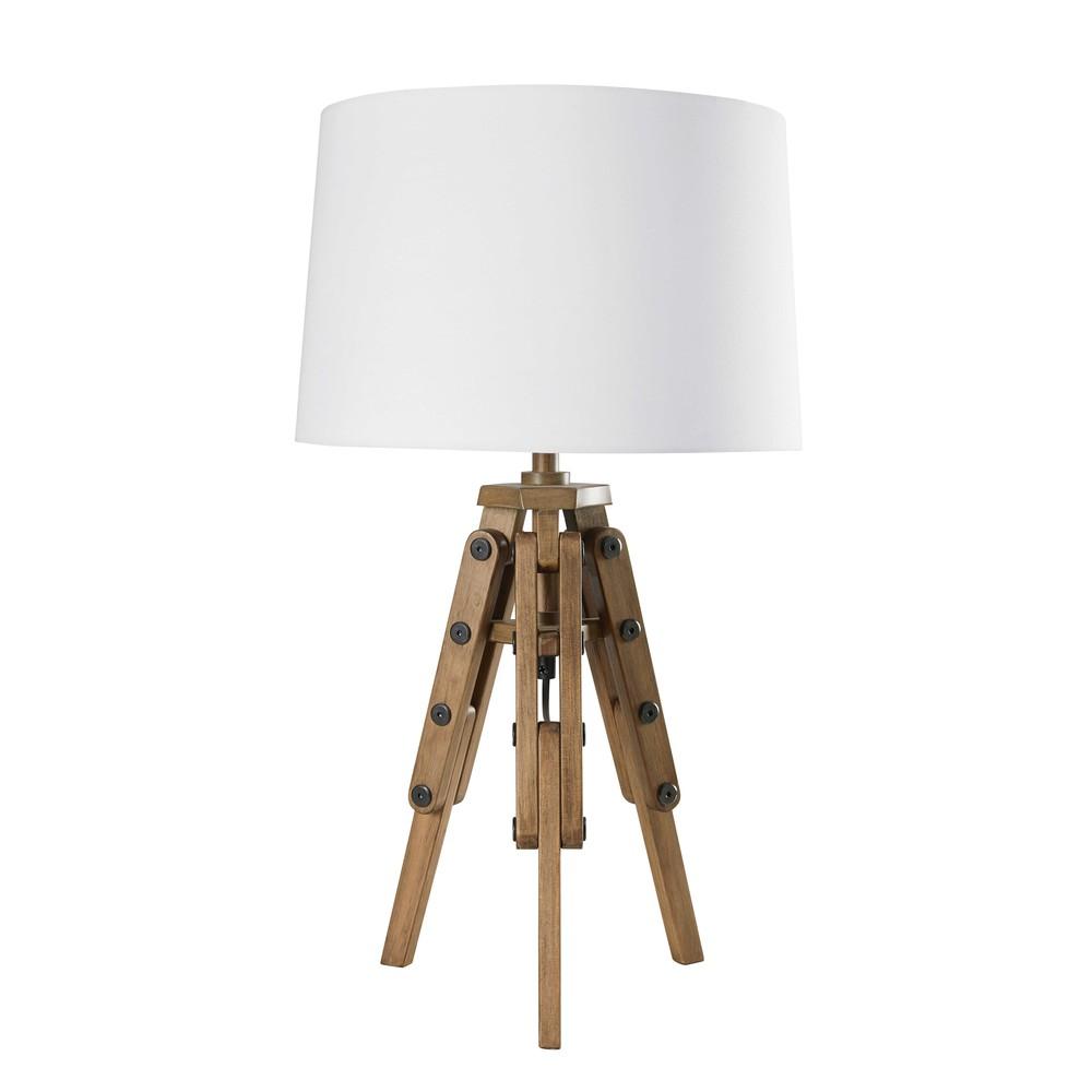lampe tr pied en coton blanc matelot maisons du monde. Black Bedroom Furniture Sets. Home Design Ideas