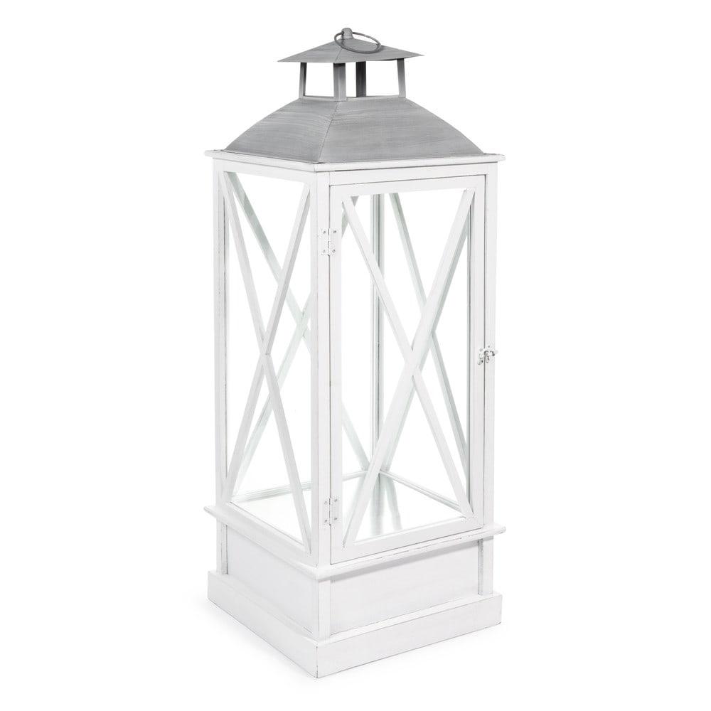 lanterna bianca in legno e metallo h 88 cm newport. Black Bedroom Furniture Sets. Home Design Ideas