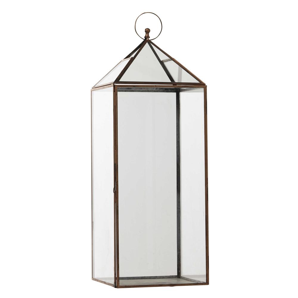 lanterne en m tal cuivr h 69 cm zo maisons du monde. Black Bedroom Furniture Sets. Home Design Ideas