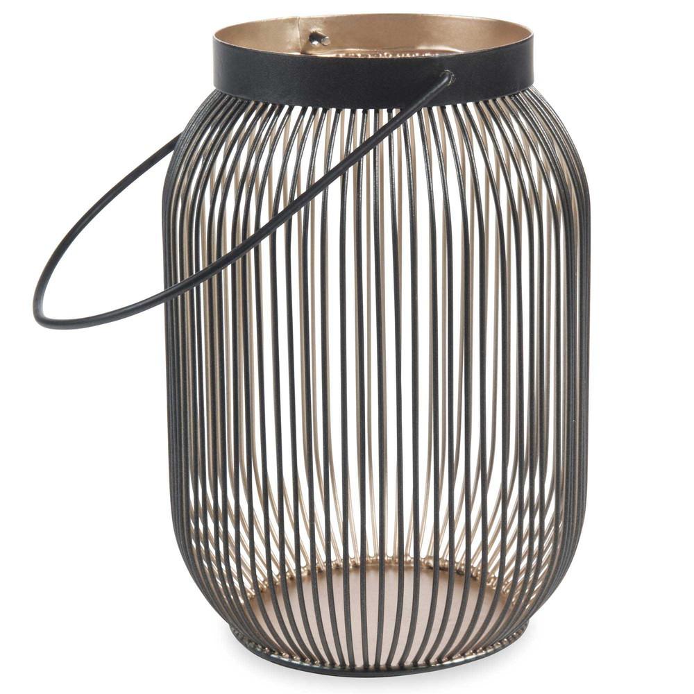 Lanterne en m tal noir dor h 19 cm phaona maisons du monde - Lanterne exterieur maison du monde ...