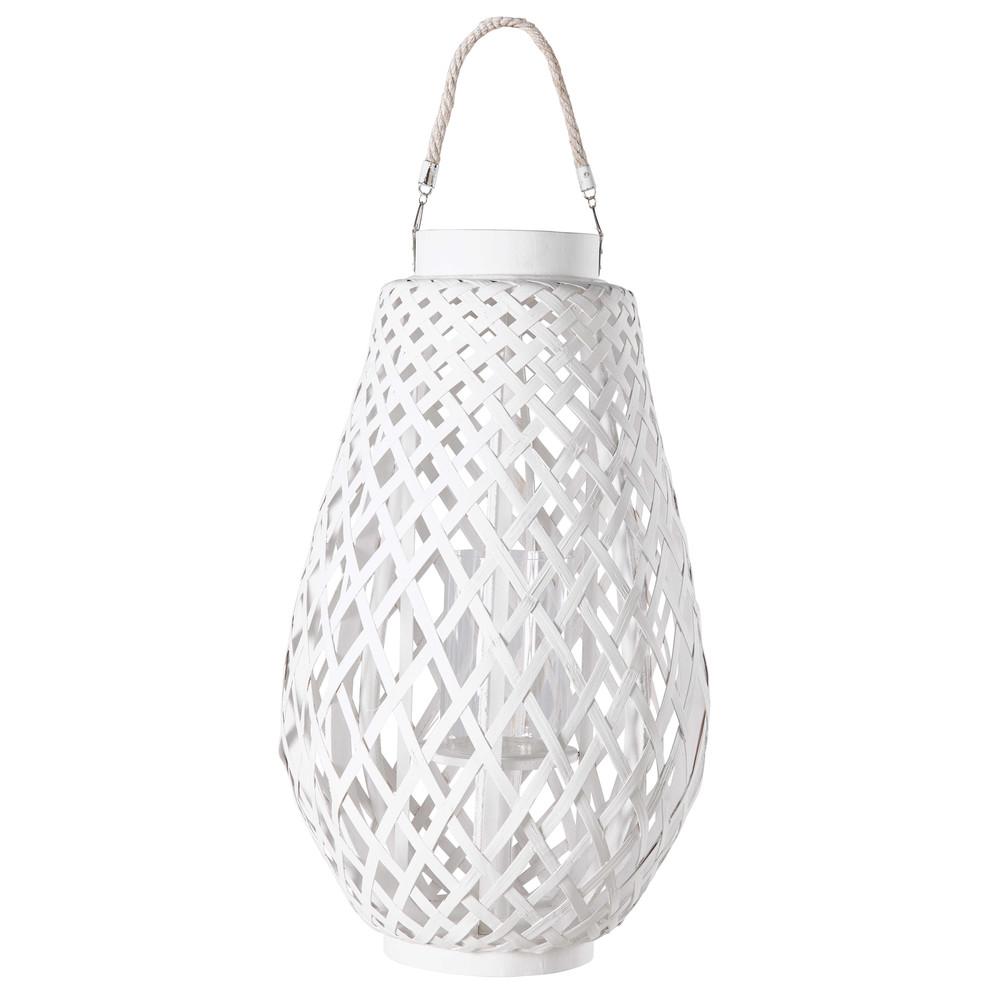 lanterne en tressage blanc zanzibar maisons du monde. Black Bedroom Furniture Sets. Home Design Ideas