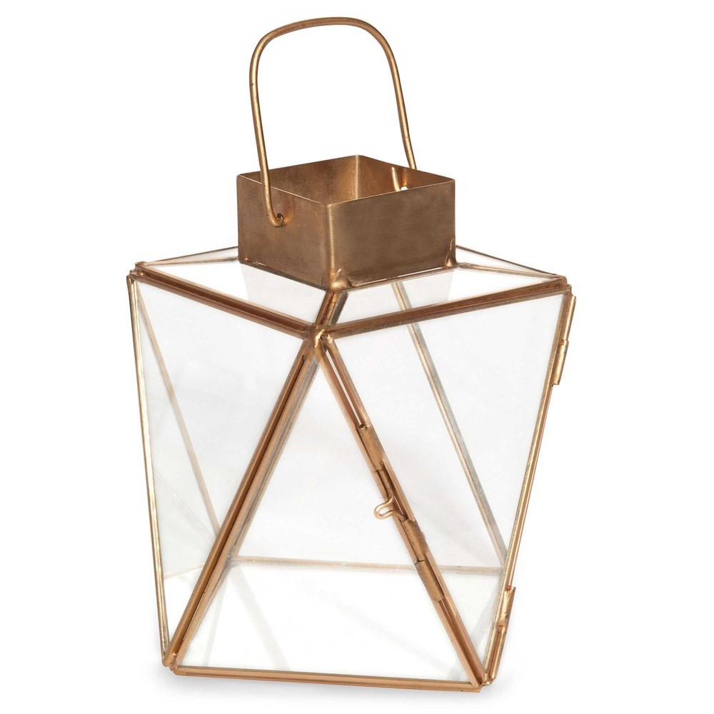 lanterne en verre et m tal cuivr urbanium maisons du monde. Black Bedroom Furniture Sets. Home Design Ideas