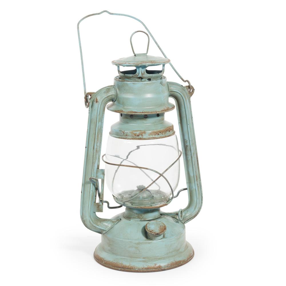 Lanterne lampe huile en m tal verte h 28 cm maisons du monde - Lanterne maison du monde ...