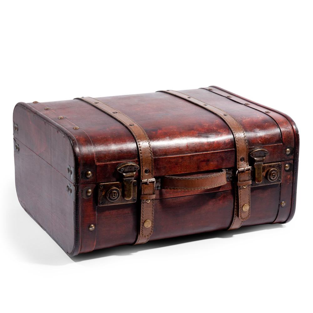 large old style suitcase maisons du monde. Black Bedroom Furniture Sets. Home Design Ideas