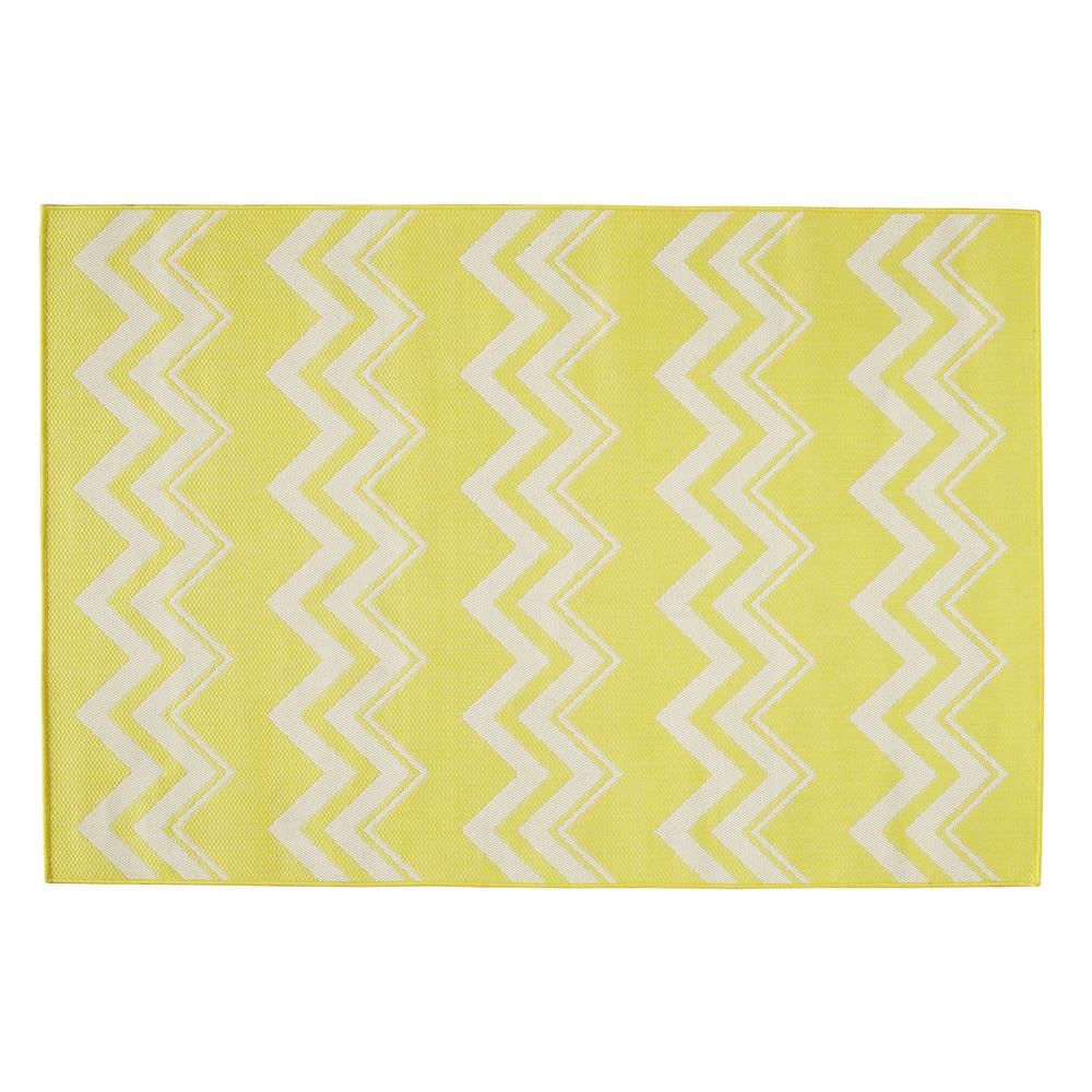 LATAIA polypropylene outdoor rug in yellow 160 x 230cm