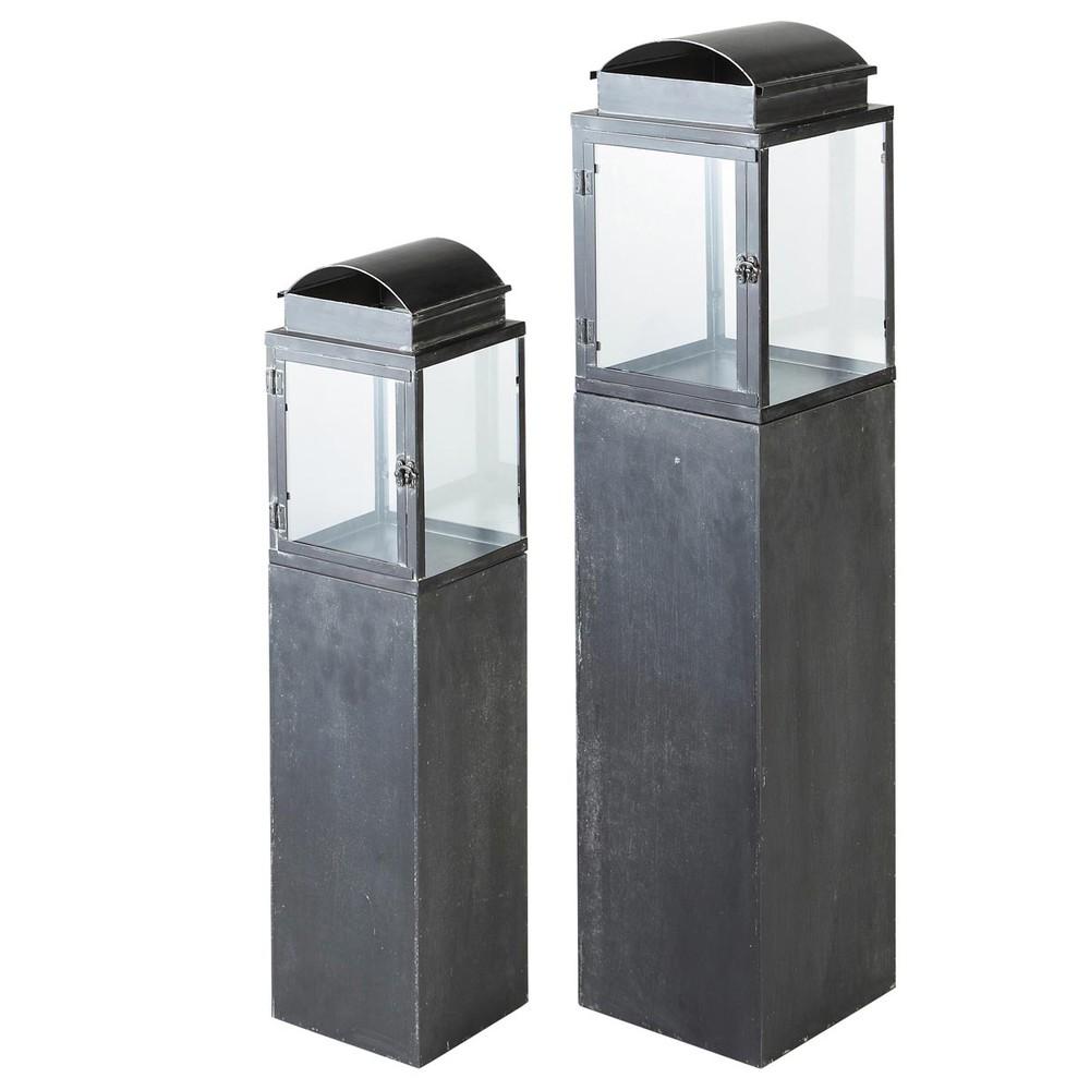 laternen set 2 teilig aus metall antibes maisons du monde. Black Bedroom Furniture Sets. Home Design Ideas