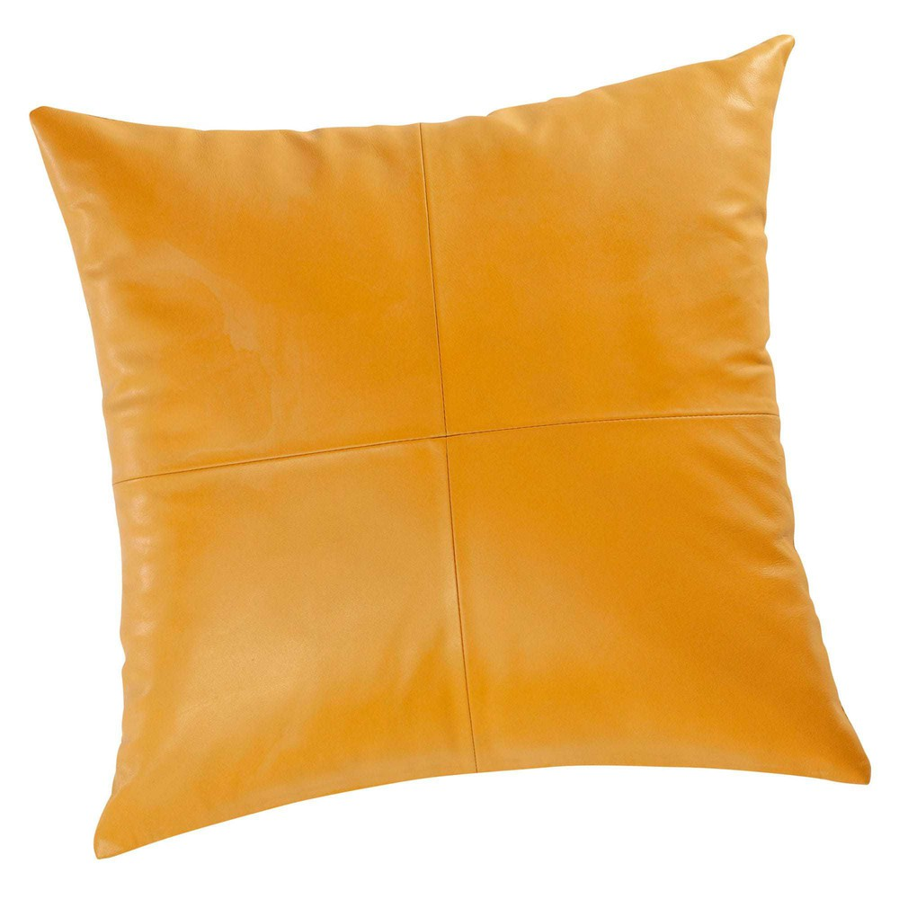 Cushioned Yellow Leather Sofa 3d: Leather Cushion In Mustard Yellow 45 X 45cm