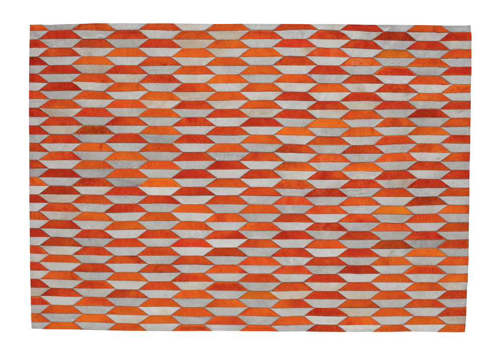 lederteppich lunel 140 x 200 cm orange maisons du monde. Black Bedroom Furniture Sets. Home Design Ideas