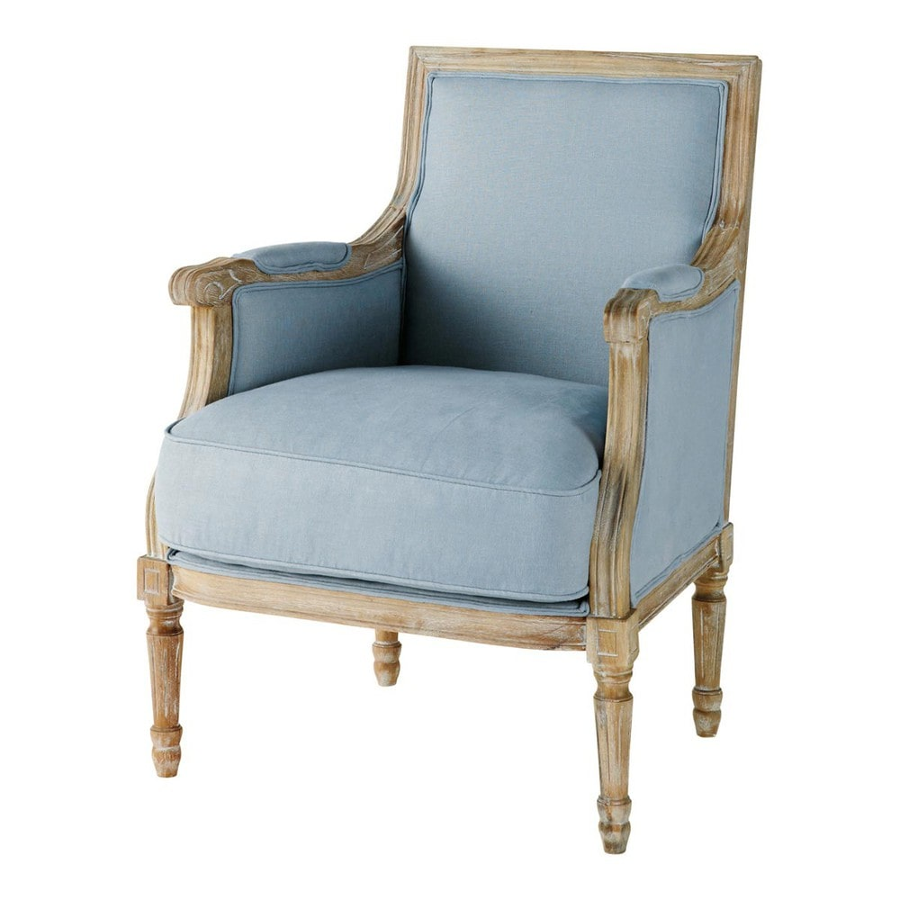 leinensessel blau casanova casanova maisons du monde. Black Bedroom Furniture Sets. Home Design Ideas