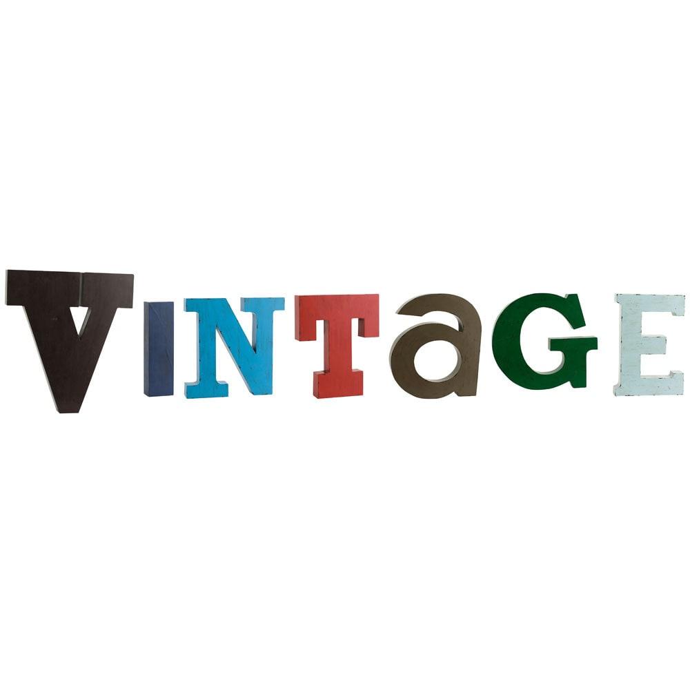 lettere in metallo vintage maisons du monde. Black Bedroom Furniture Sets. Home Design Ideas