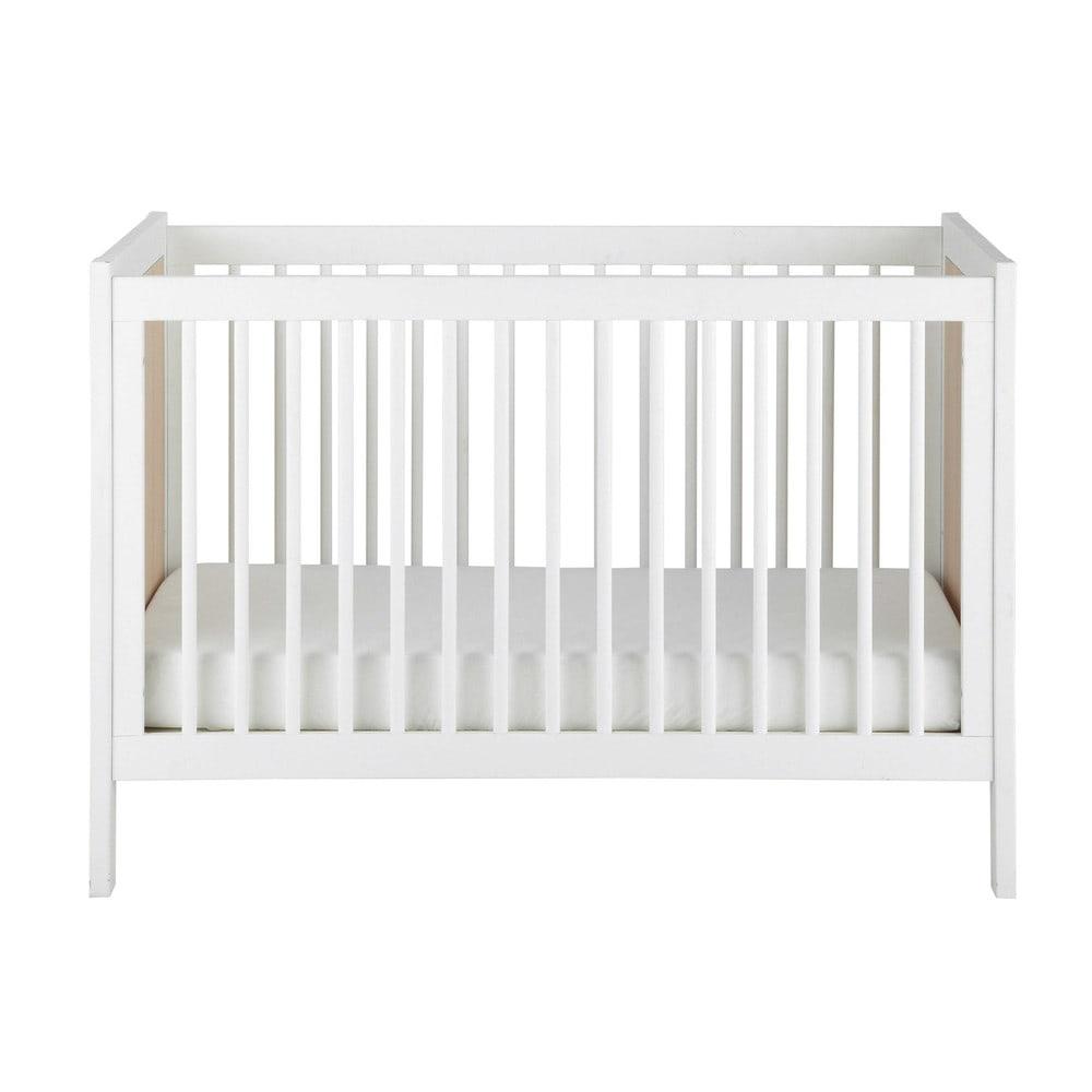 Lettino con sbarre per neonato in legno bianco l 126 cm - Sbarre per letto ...