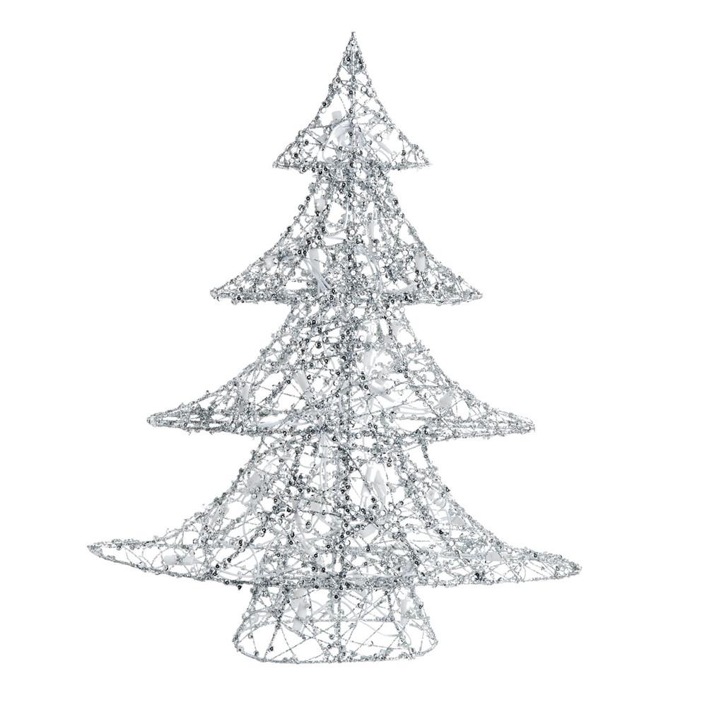 leucht weihnachtsbaum silver aus metall h 64 cm maisons. Black Bedroom Furniture Sets. Home Design Ideas