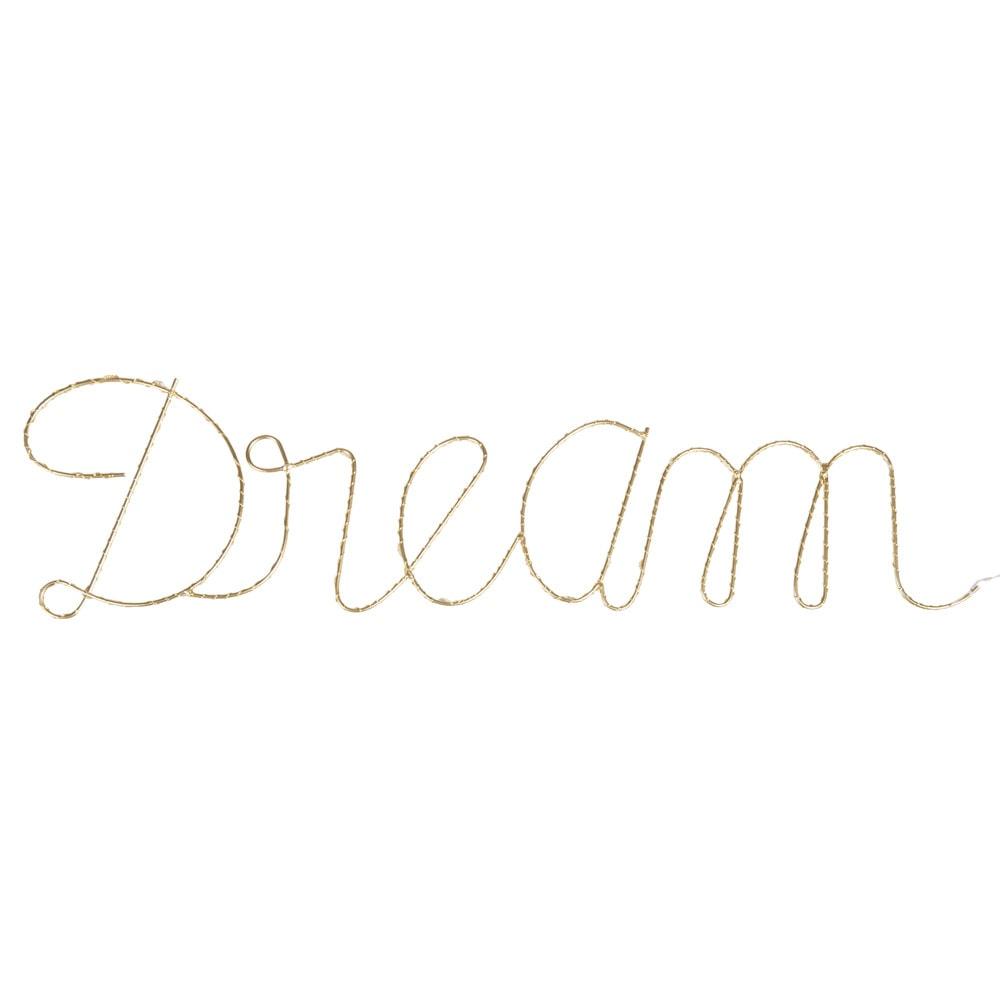 leuchtende wanddeko aus metall goldfarben l74 maisons du. Black Bedroom Furniture Sets. Home Design Ideas
