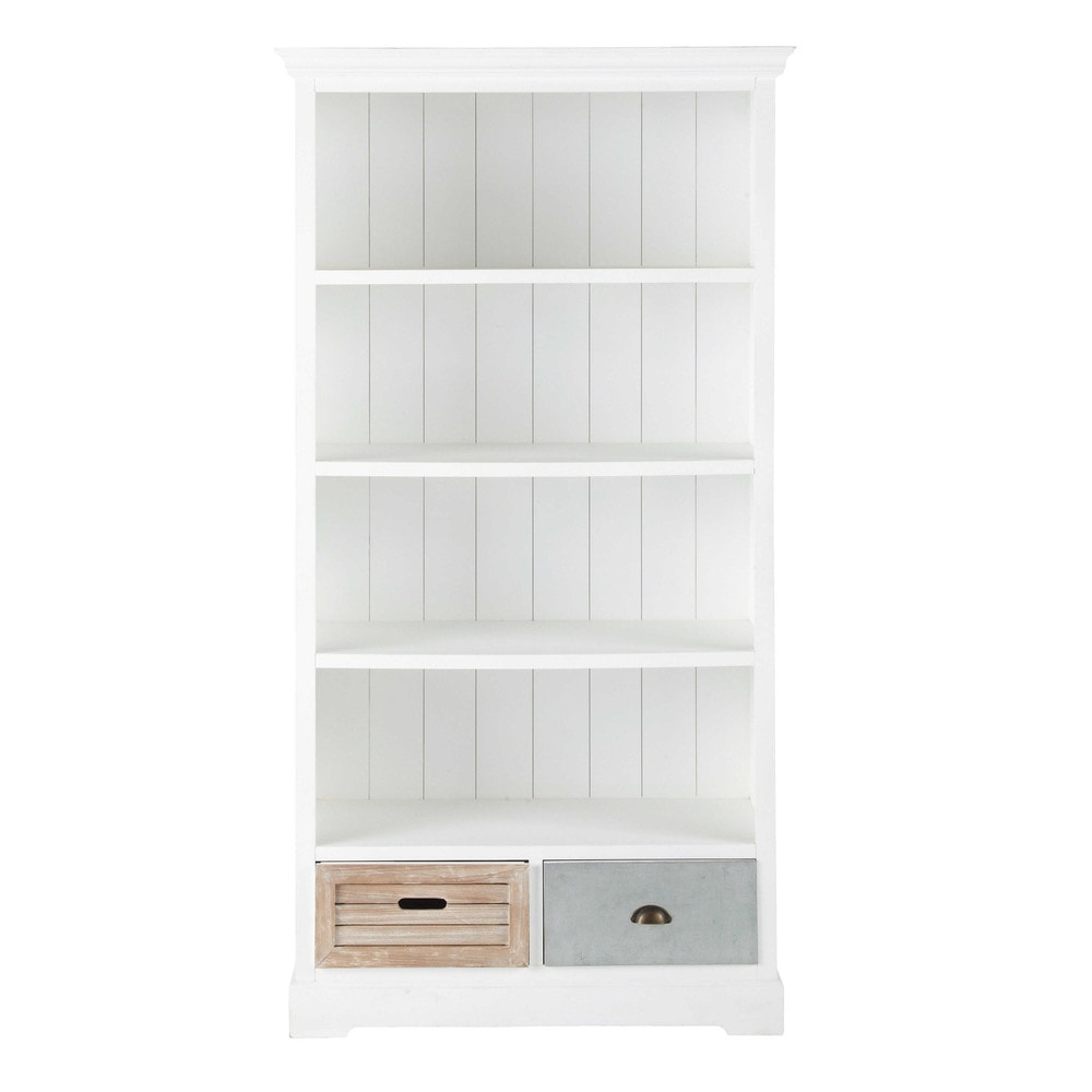 libreria bianca in legno l 100 cm ouessant maisons du monde. Black Bedroom Furniture Sets. Home Design Ideas