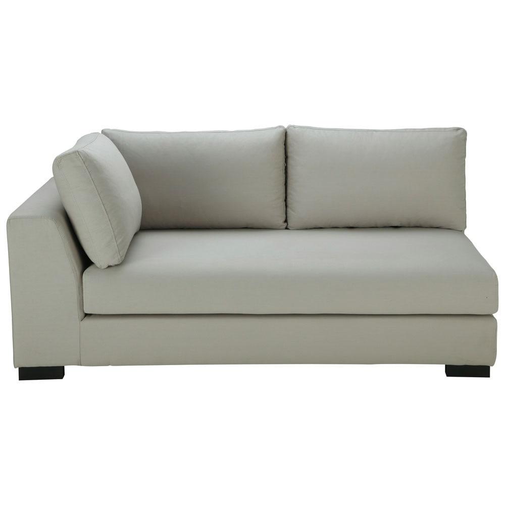 light grey cotton modular sofa left armrest terence. Black Bedroom Furniture Sets. Home Design Ideas