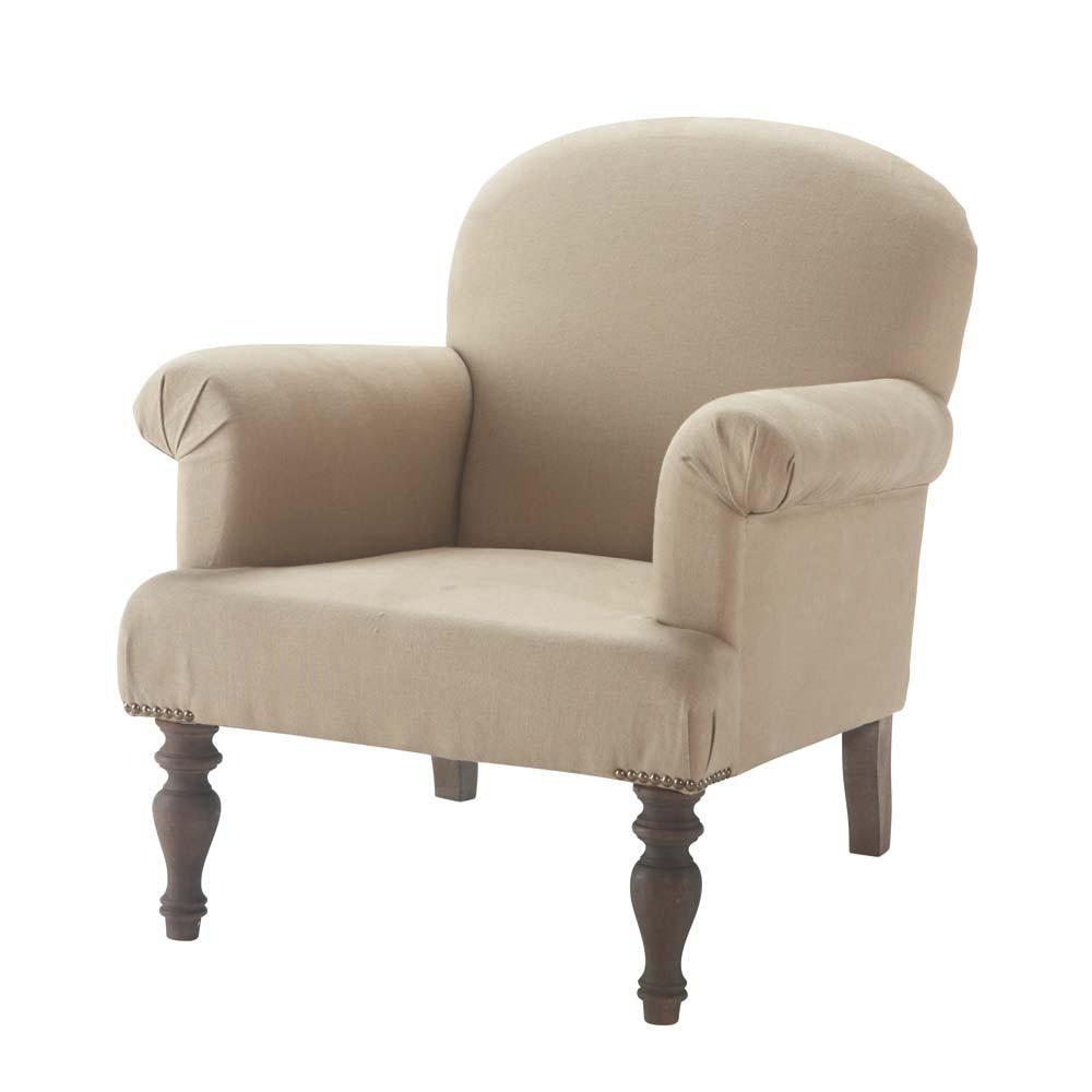 Linen armchair gabin maisons du monde - Maison du monde fauteuil enfant ...