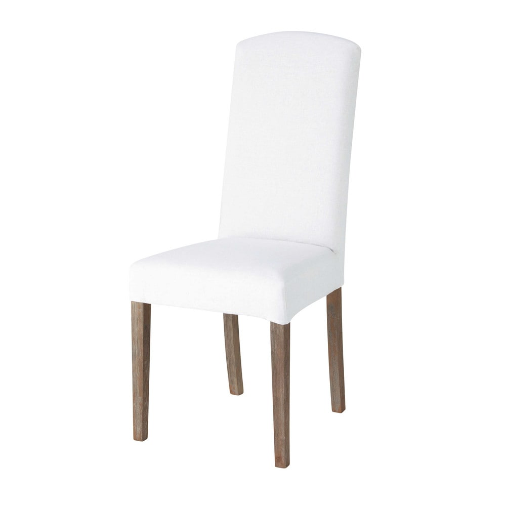 linen chair cover in white alice maisons du monde