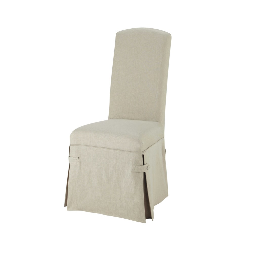 Linen long chair cover alice maisons du monde - Maison du monde rocking chair ...