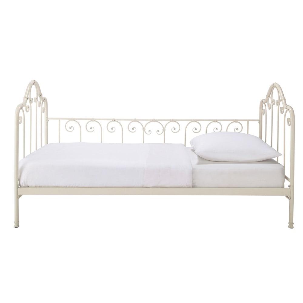 lit banquette 90 x 190 en m tal ivoire juliette maisons du monde. Black Bedroom Furniture Sets. Home Design Ideas
