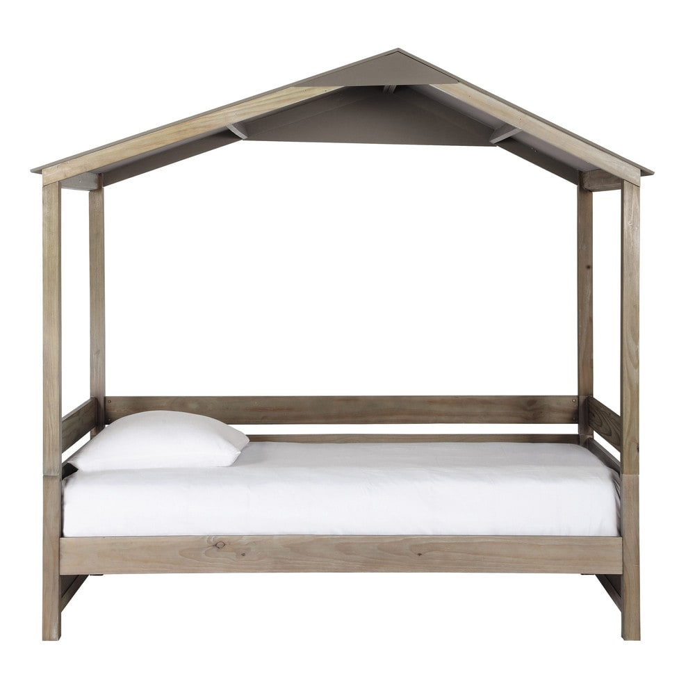 lit cabane enfant 90 x 190 cm en bois forest maisons du. Black Bedroom Furniture Sets. Home Design Ideas