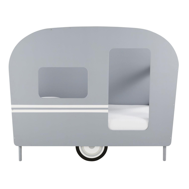 lit caravane enfant 90x190 gris petit bolide | maisons du monde