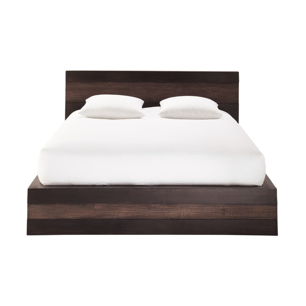 lit exotique 140x190 en manguier massif java maisons du monde. Black Bedroom Furniture Sets. Home Design Ideas