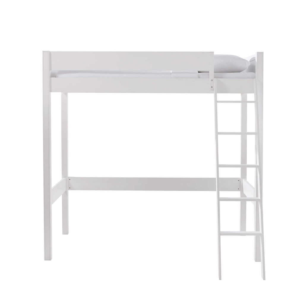 lit mezzanine 90 x 190 cm en bois blanc newport maisons du monde. Black Bedroom Furniture Sets. Home Design Ideas