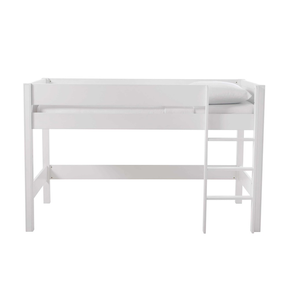 lit mezzanine enfant 90 x 190 cm en bois blanc tonic maisons du monde. Black Bedroom Furniture Sets. Home Design Ideas