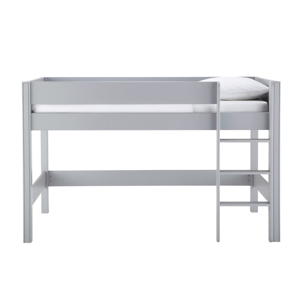 lit mezzanine enfant 90 x 190 cm en bois gris tonic. Black Bedroom Furniture Sets. Home Design Ideas