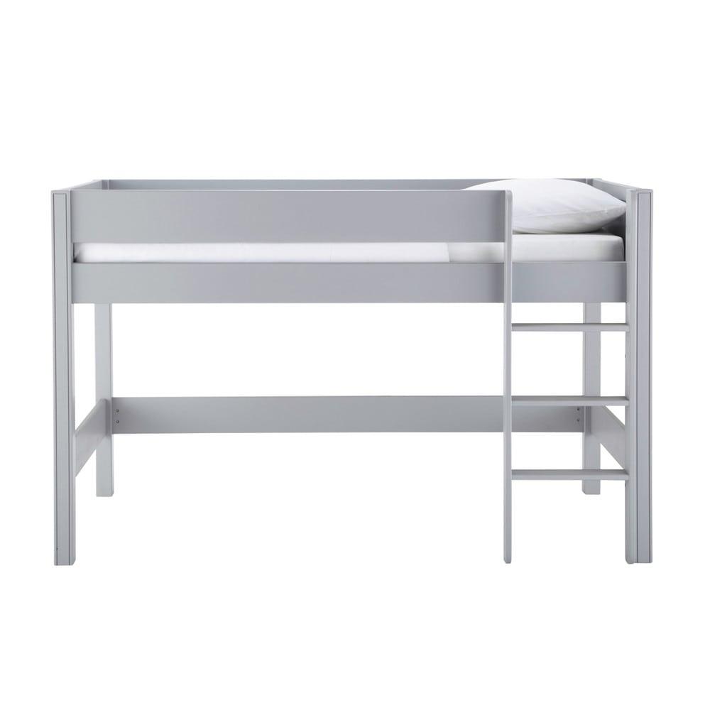 lit mezzanine enfant 90x190 gris tonic maisons du monde. Black Bedroom Furniture Sets. Home Design Ideas