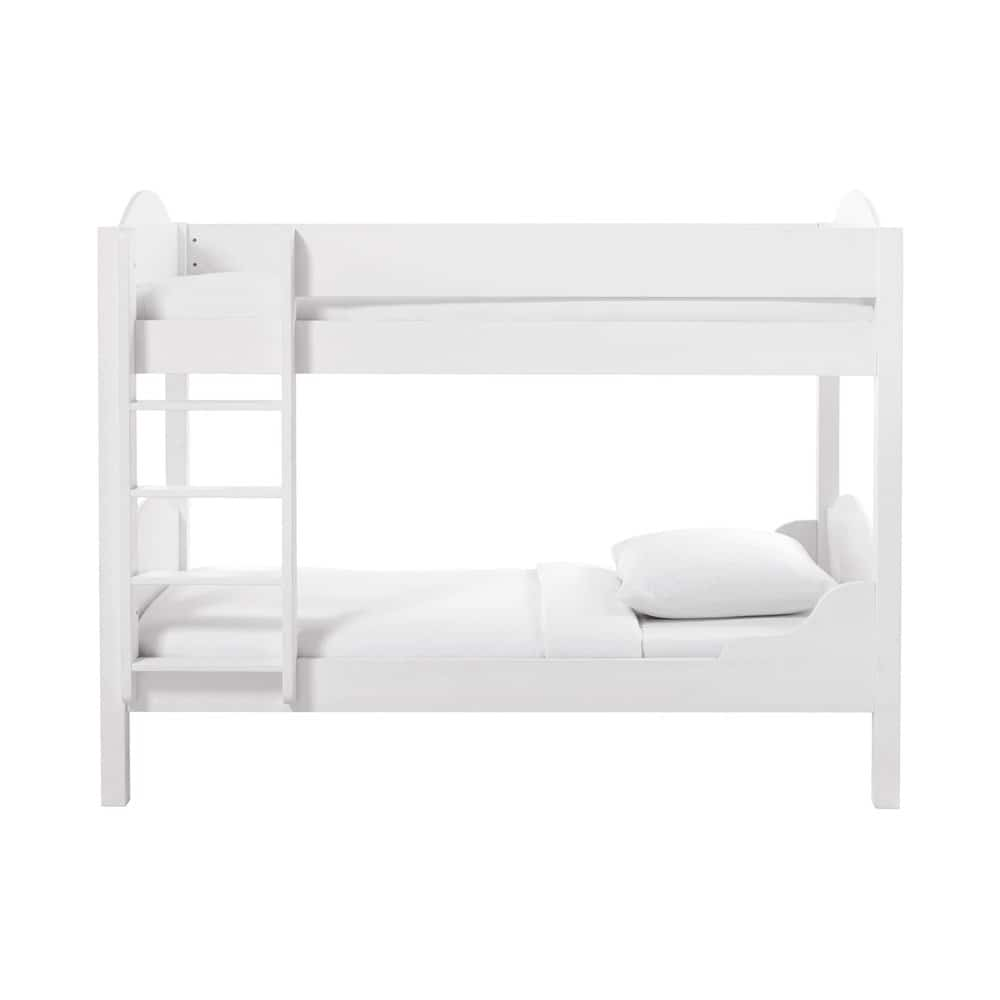 lit superpos 90x190 en bois blanc pastel maisons du monde. Black Bedroom Furniture Sets. Home Design Ideas