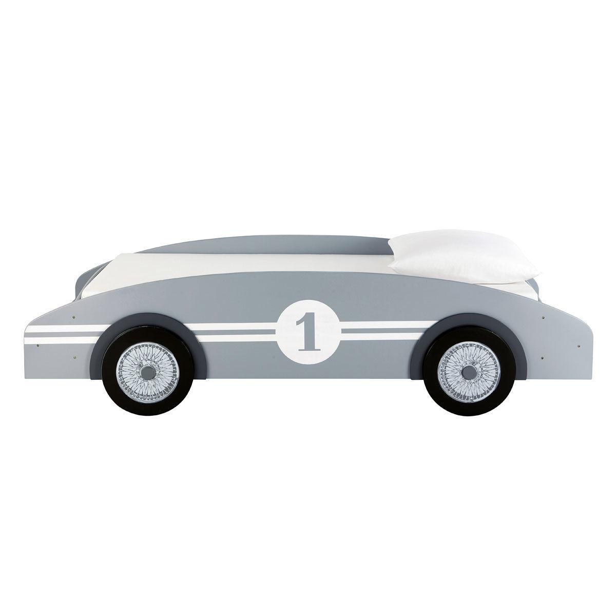 Lit voiture enfant 90x190 gris Circuit | Maisons du Monde