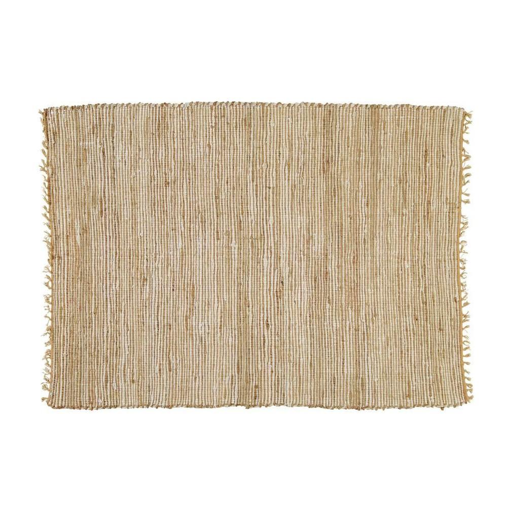 lodge cotton and jute woven rug 200 x 300cm maisons du monde. Black Bedroom Furniture Sets. Home Design Ideas