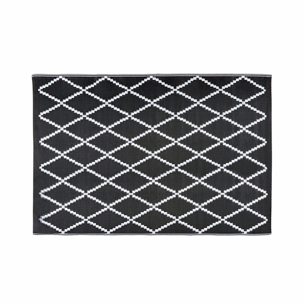 Black And White Rug Outdoor: LOSIA Black And White Patterned Outdoor Rug 180 X 270 Cm