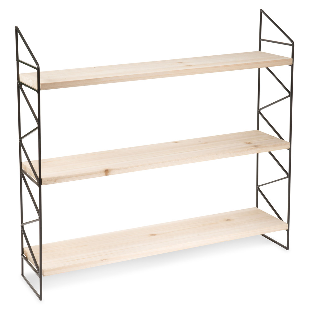 Luke pine and metal shelf unit maisons du monde for Maison de monde uk