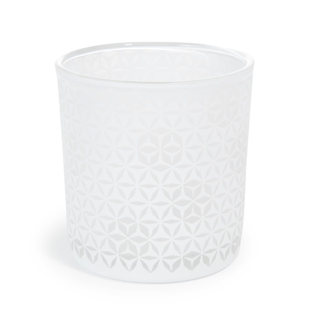 Lumignon en verre blanc h 8 cm pastilles maisons du monde for Decoration lumignon 8 decembre