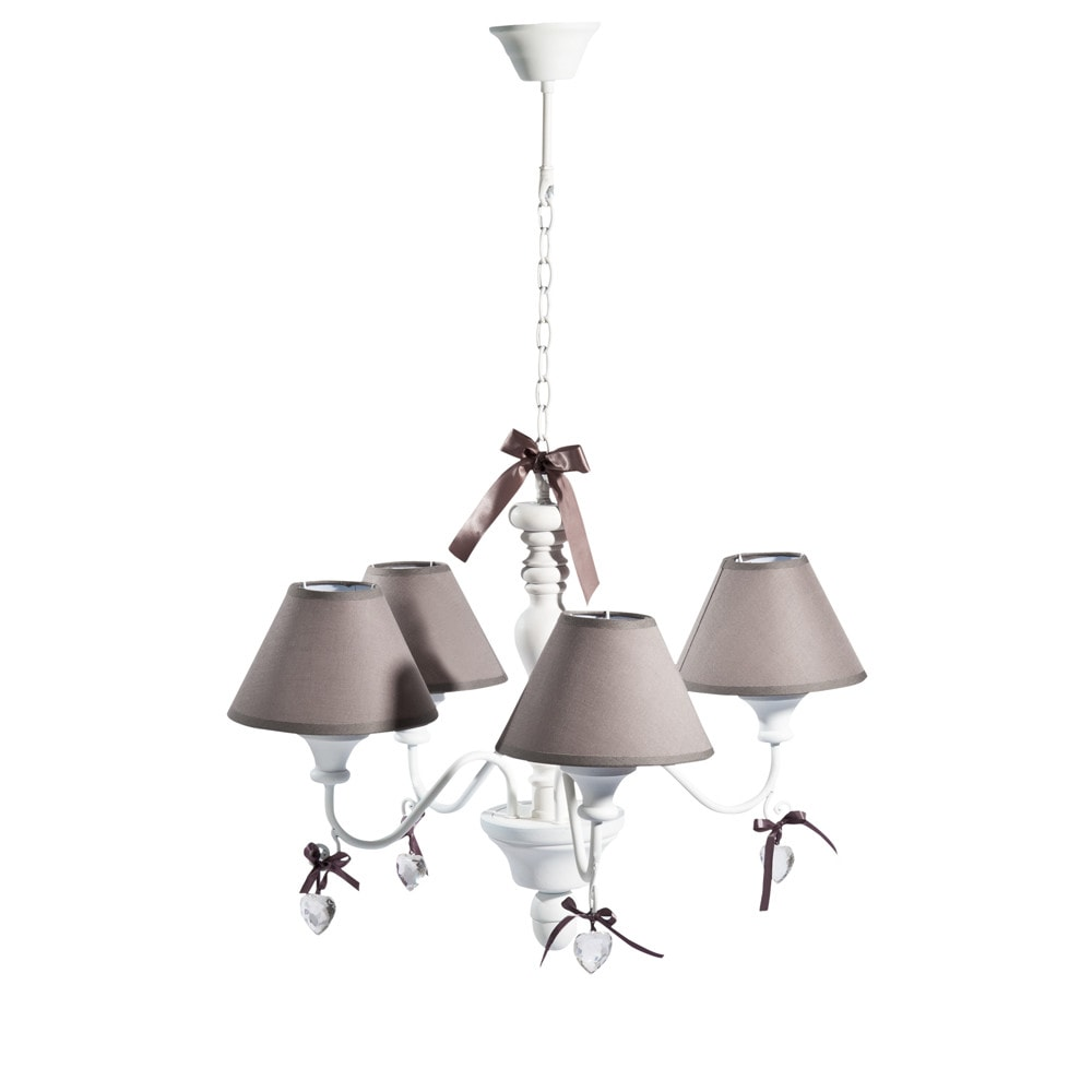 lustre 4 branches blanc d 52 cm op ra maisons du monde. Black Bedroom Furniture Sets. Home Design Ideas