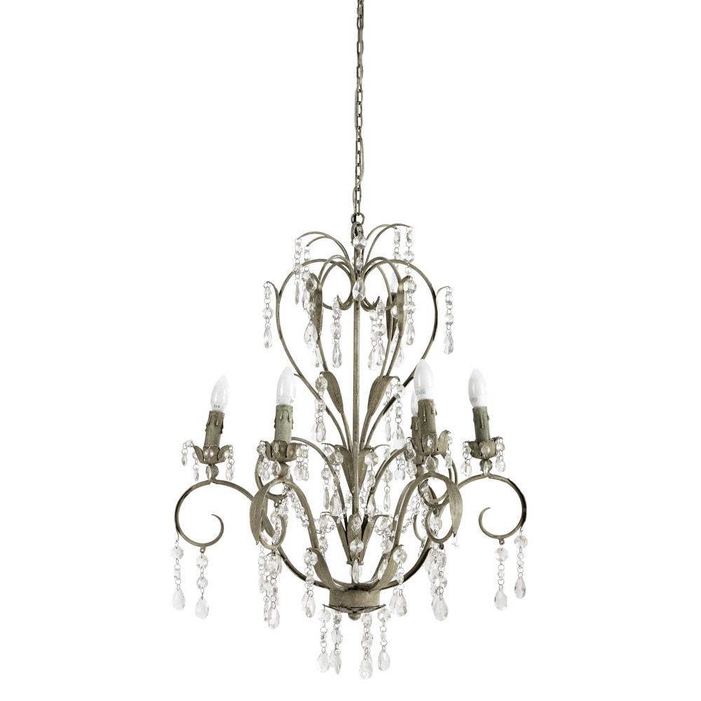 lustre pampilles en m tal beige d 70 cm elisabeth maisons du monde. Black Bedroom Furniture Sets. Home Design Ideas